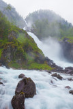 Latefossen waterfall in Norway