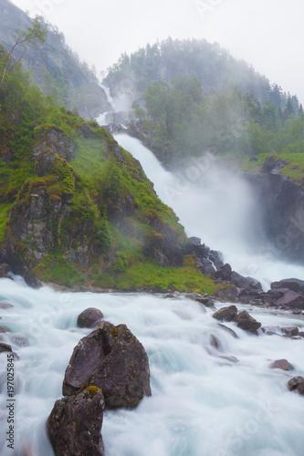 Latefossen waterfall in Norway - 197025845
