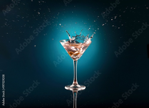 Poster Martini Drink With Olive