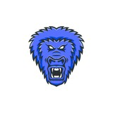 Gorilla mascot vector head logo premium sport emblem illustration isolated