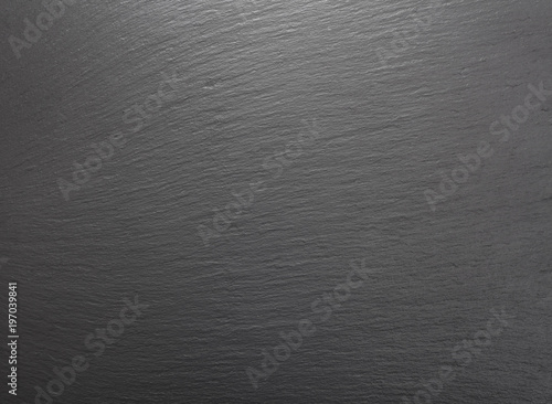 top view of blank gray slate background