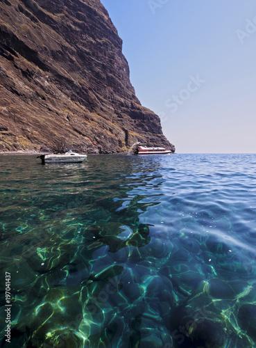Canvas Canarische Eilanden Los Gigantes Cliffs, Tenerife Island, Canary Islands, Spain