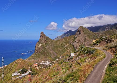 Deurstickers Canarische Eilanden Taganana, elevated view, Anaga Rural Park, Tenerife Island, Canary Islands, Spain