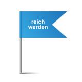 blaue Fahne - reich werden - 197042073