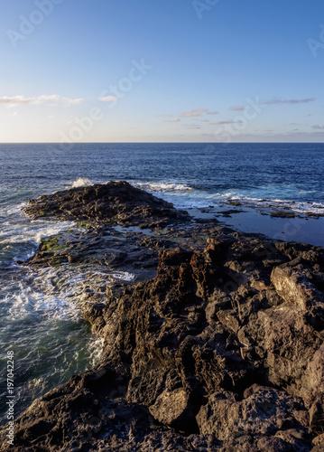 Deurstickers Canarische Eilanden Punta de la Laja near Bajamar, Tenerife Island, Canary Islands, Spain