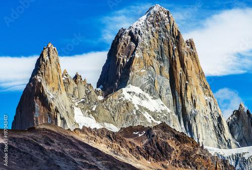 Aluminium Fyle Mount Fitz Roy at Los Glaciares National Park in Argentina