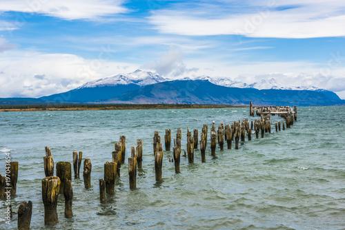 Aluminium Fyle Old pier in Puerto Natales