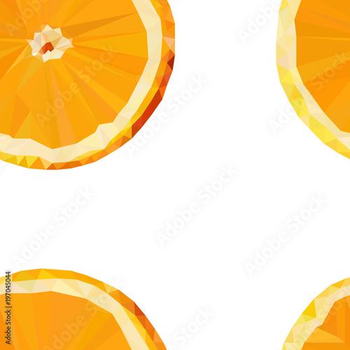 colored stylized orange fruit, seamless pattern - 197045044