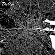 Dublin Ireland City Map Black and White - 197049251