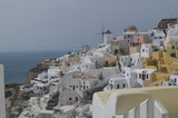 Typical architecture on Santorini an island in Greece - 197049672