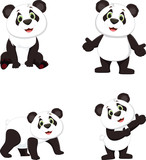 cute panda cartoon collection