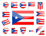 Puerto Rico Flag Vector Set - 197054409