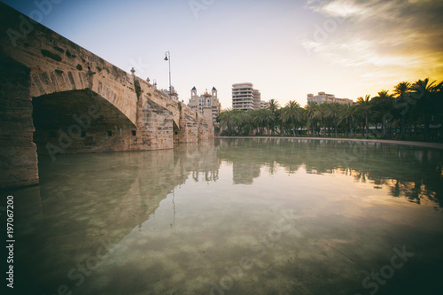 Valencia, Spain, the park of Turia,
