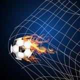 Fire ball, Soccer Football