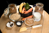 Ingredients for a raw bio cake - 197073648