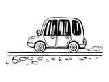 Car child drawing sketch