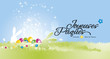 Happy Easter background (Joyeuses Pâques - French) - 197096082