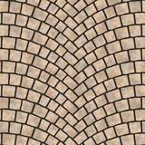 Arched cobblestone pavement texture 069 - 197103872