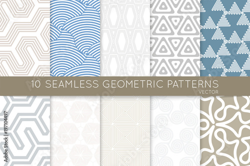 Collection of seamless patterns - 197104497