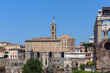 Panoramic view of Roman Forum in city of Rome, Italy