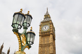 Big Ben and Lamppost, London, England © Benedictus
