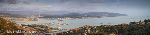Foto op Plexiglas Liguria Panoramic view over the La Spezia marina in Liguria, Italy