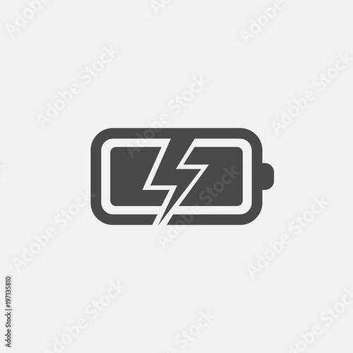 Battery Charging Icon With Lightning Symbol For Industrial And Cell