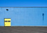 Blue industrial facade - 197149480