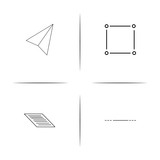 Web And Text simple linear icon set.Simple outline icons - 197152290