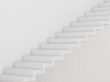 3d rendering of white room with white stair on the wall