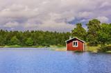 Rotes Schwedenhaus am See