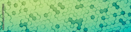 green hexagon background - 197173863