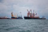 cargo ship in the sea. - 197177475