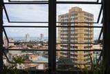 Cuba Havana cityscape through a window