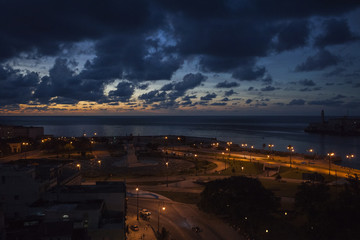 Havana- Evening view of the beach