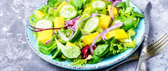 Leaf vegetable salad