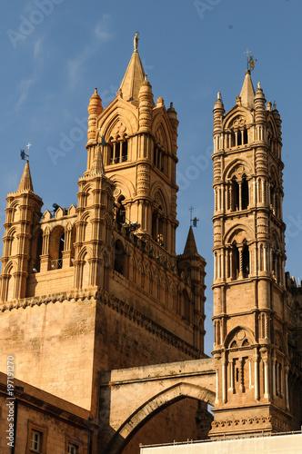 Campanili della Cattedrale di Palermo,Italia.