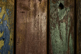 Holz Textur mit Metallic Farbresten - 197194252