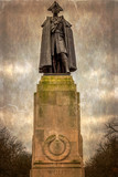 Old photo with statue of Major General James Wolfe - 197195486