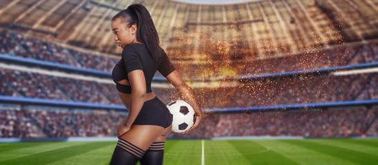 fußball mit feuer