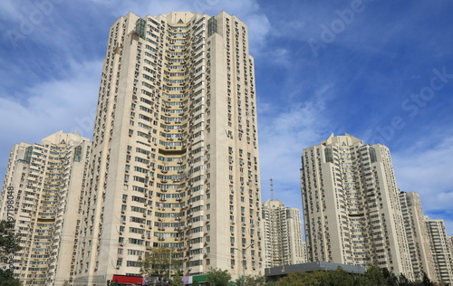 Foto op Plexiglas Peking Residential apartment building Beijing China