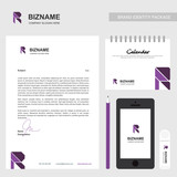 Brochure design with R logo and unique desing and also with calender and smart phone