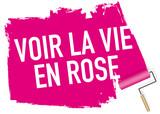 expression - bonheur - joie - amoureux - joyeux - joyeuse - rose - sourire - content - vie en rose - 197213436