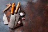 Vintage kitchen utensils and spices - 197225494
