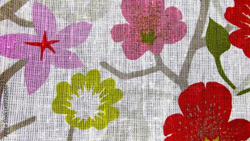 Beautiful pattern on linen fabric. - 197226268