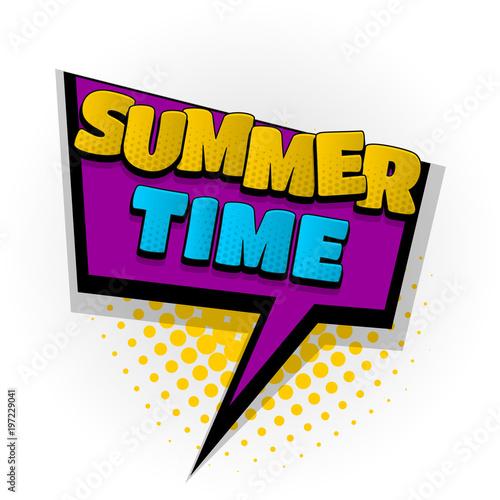 summer time wake up comic book text pop art - 197229041