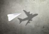 Paper plane shadow concept - 197233634