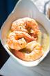 King prawns in white wine sauce  - 197234286