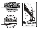 Set of very detailed logos about San Francisco