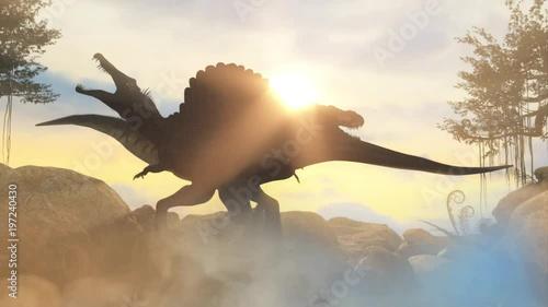 bitwa-miedzy-dwoma-prehistorycznymi-dinozaurami